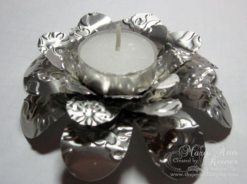 Metal flashing tea light side