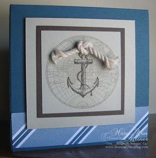 Nautical box card front