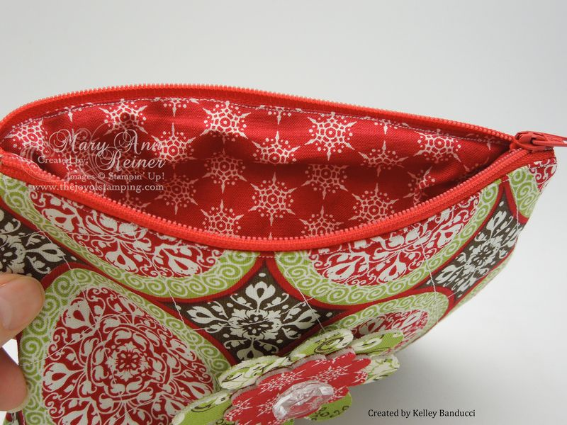 Christmas pouch open