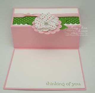 Fabric card open