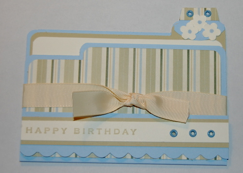 Happy Birthday file folder card